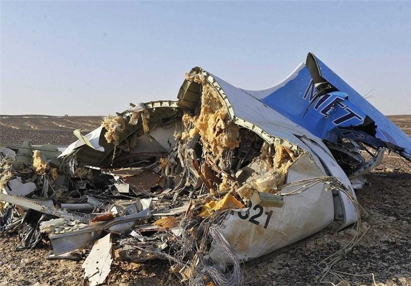 اولین فیلم منتشر شده از محل سقوط هواپیمای مسافربری روسیه در مصر
