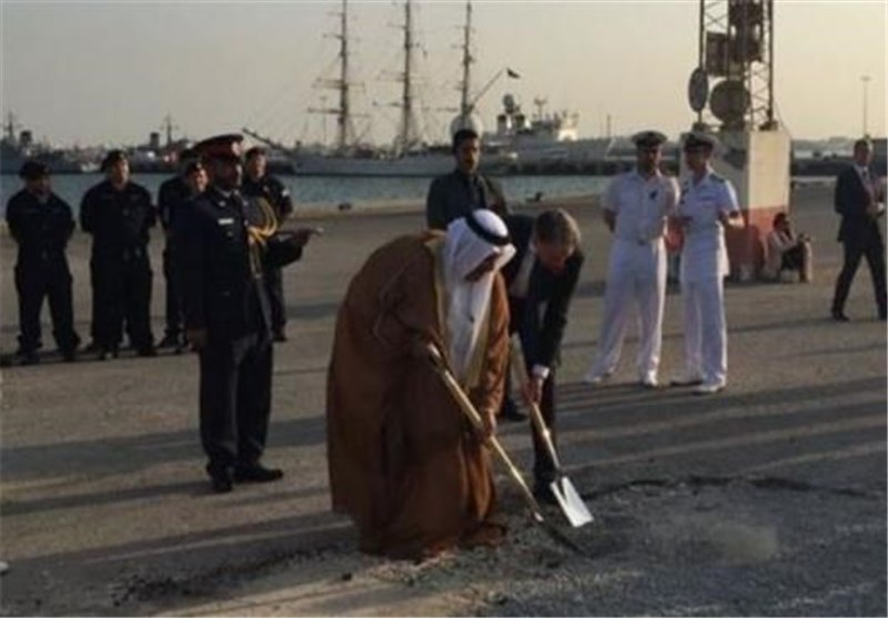 مراسم کلنگ زنی احداث پایگاه نظامی انگلیس در بحرین+عکس