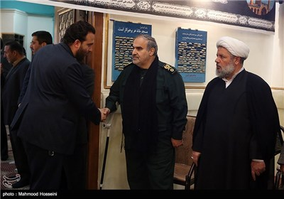 مراسم یادبود دو شهید مدافع حرم عبدالله باقری و امین کریمی در سپاه انصار المهدی(عج)