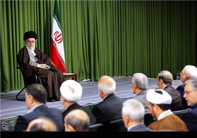 دیدار وزیر امور خارجه و سفیران ایران در خارج از کشور با مقام معظم رهبری