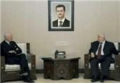 دیدار دی مستورا با ولید المعلم در دمشق
