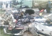 تصادف امروز در گلستان 5 کشته برجای گذاشت+تصاویر//انتشار