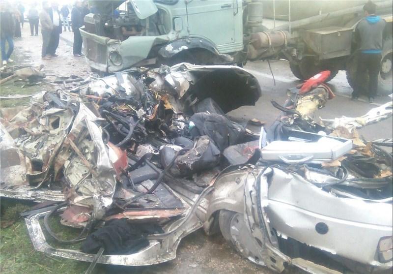 تصادف در کلاله استان گلستان 5 کشته برجای گذاشت + تصاویر