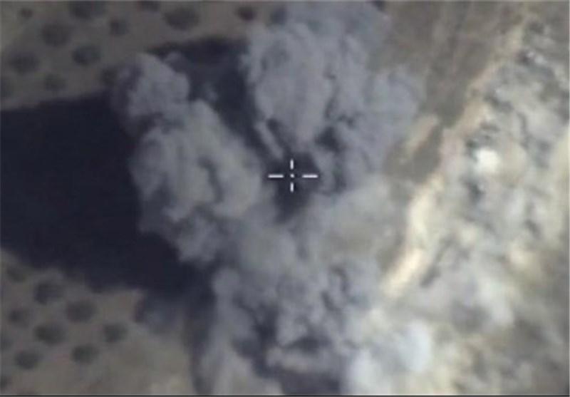 غارة روسیة على مخابئ داعش بقنابل خارقة للخرسانة بزنة نصف طن