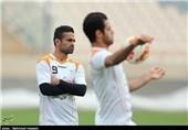 امید ابراهیمی، تمرین تیم ملی فوتبال