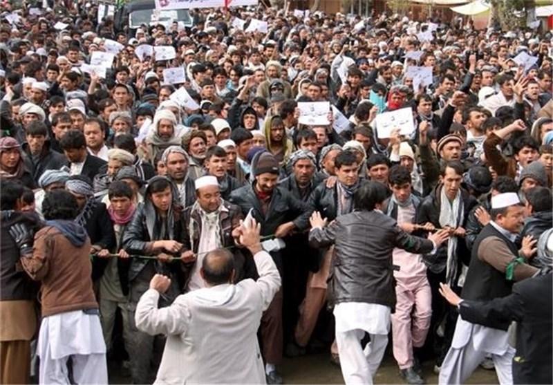 تظاهرات حاشدة فی کابل اثر استشهاد 7 افغان + صور