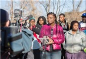 Americans Hold Rally after Cop Shoots Black Man