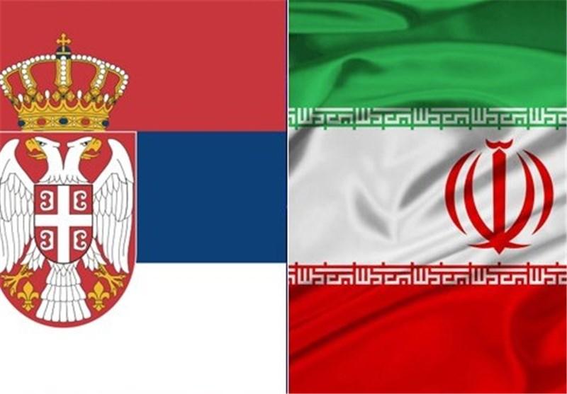 پرچم ایران و صربستان