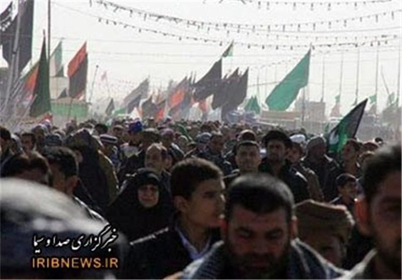 ملیونا زائر ایرانی فی طریقهم الی مدینة کربلاء المقدسة للمشارکة فی زیارة الاربعین