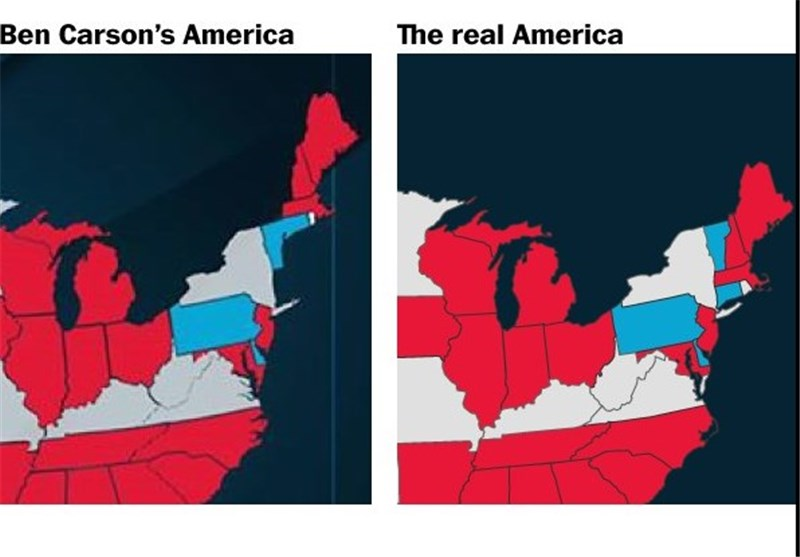 Ben Carsons Campaign Made A US Map Put A Bunch Of States In The - Put us on the map