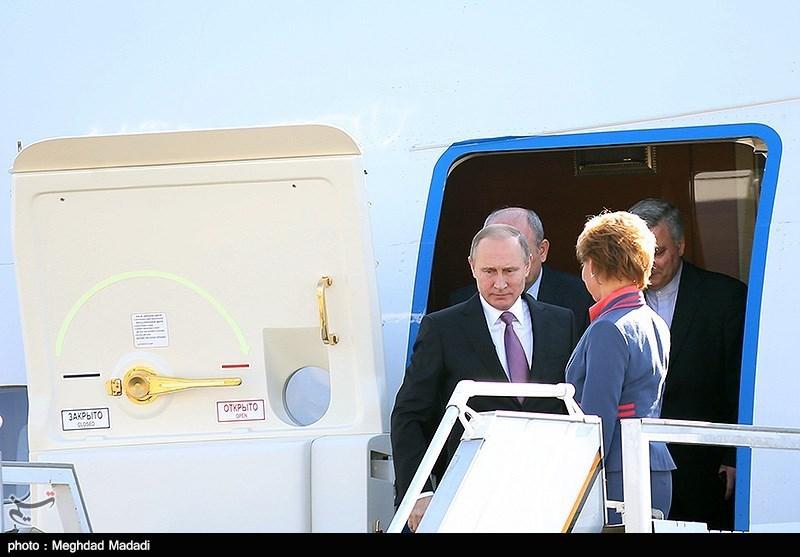 ورود ولادیمیر پوتین به تهران