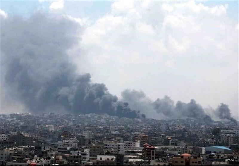 جنوبی غزہ پر اسرائیلی گولہ باری/ رام اللہ میں صہیونی بکتربند گاڑی پر فائرنگ