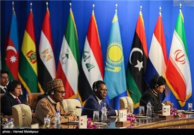 اوو مورالس رئیس جمهور بولیوی، تئودور اوبیانگ رئیس جمهور گینه استوایی و محمدو بوهاری رئیس جمهور نیجریه در سومین اجلاس سران مجمع کشورهای صادرکننده گاز (GECF)