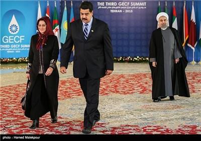 استقبال حجتالاسلام حسن روحانی رئیس جمهور از نیکلاس مادورو رئیس جمهور ونزوئلا - سومین اجلاس سران مجمع کشورهای صادرکننده گاز (GECF)