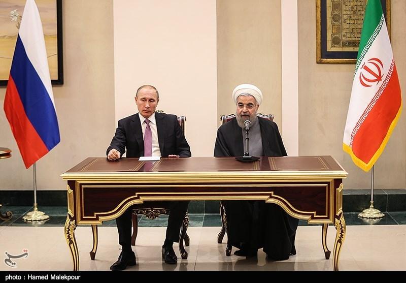 دیدار و نشست خبری مشترک رؤسای جمهور ایران و روسیه