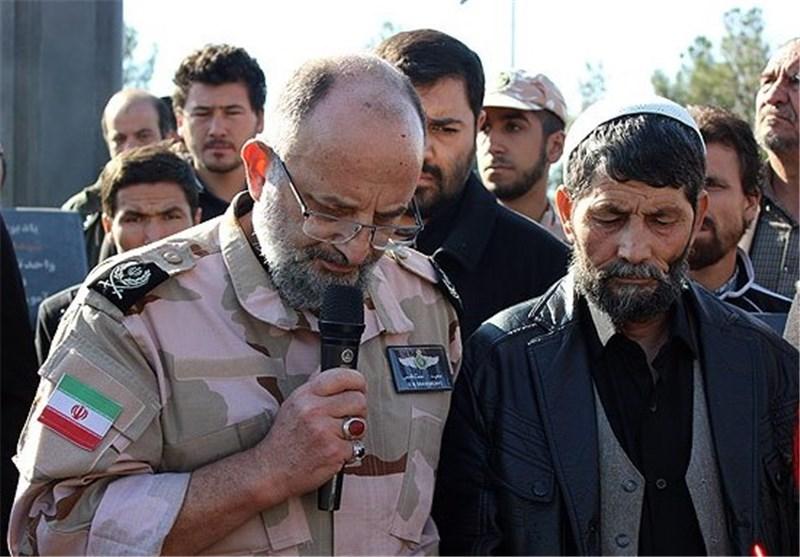 مداحی سردار سعید قاسمی در تشییع شهید مدافع حرم فاطمیون + فیلم