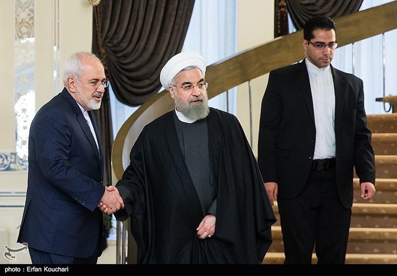 حجتالاسلام حسن روحانی رئیس جمهور و محمدجواد ظریف وزیر امور خارجه