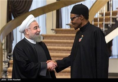 محمدو بوهاری جمهور نیجریه و حجتالاسلام حسن روحانی رئیس جمهور