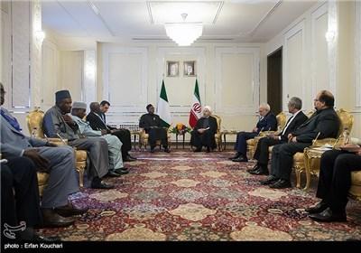 مراسم دیدار محمدو بوهاری جمهور نیجریه با حجتالاسلام حسن روحانی