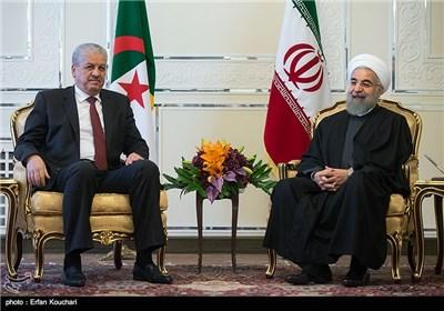 مراسم دیدار عبدالمالک سلال نخست وزیر الجزایر و حجت الاسلام حسن روحانی رئیس جمهور