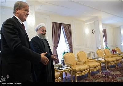 عبدالمالک سلال نخست وزیر الجزایر و حجت الاسلام حسن روحانی رئیس جمهور