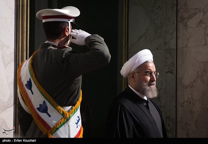استقبال رسمی رئیسجمهور قرقیزستان از روحانی