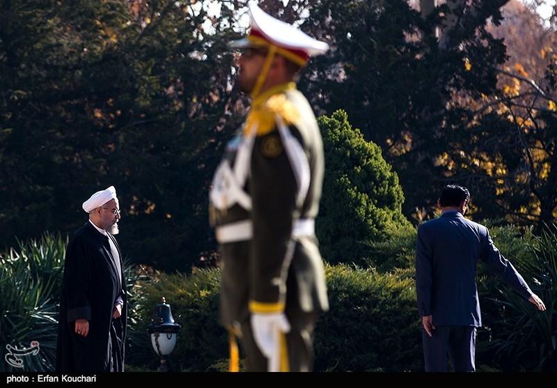استقبال رسمی از روحانی در قزاقستان