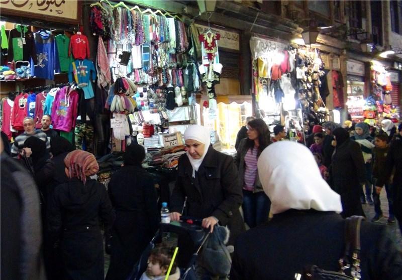 بازار پر جنب و جوش حمیدیه دمشق + فیلم