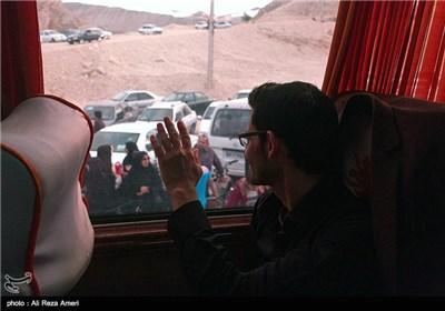بدرقه زائران اربعین حسینی در شهرستان لامرد - فارس