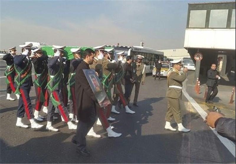 وصول جثمان الشهید رکن أبادی الی طهران + صور