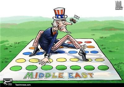 کاریکاتور/ سردرگمی آمریکا در غرب آسیا