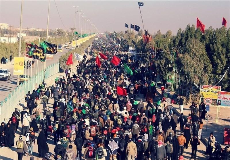 مناوره وحدة الشعب العراقی من مسلمین ومسیحیین فی مسیرة الاربعین فی طریق کربلاء + صور