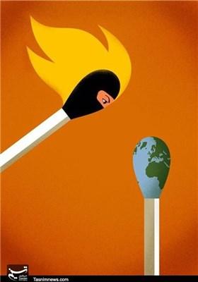 کاریکاتور/ جهان در معرض خطر تروریستها