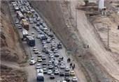 ترافیک سنگین در محورهای منتهی به مهران