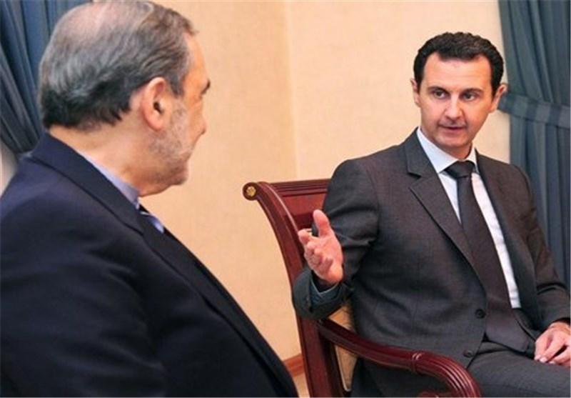 مستشار الامام الخامنئی یلتقی الرئیس بشارالأسد