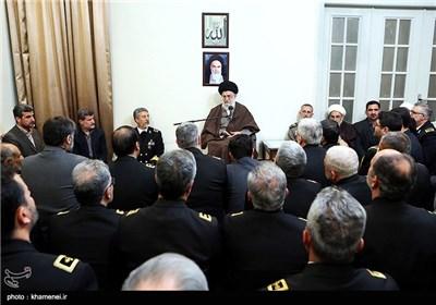 دیدار فرماندهان و مسئولان نیروی دریایی ارتش با مقام معظم رهبری