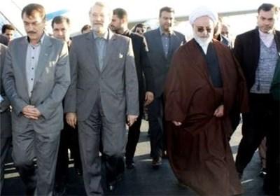 رئیس مجلس الشورى یتفقد معبر مهران الحدودی مع العراق
