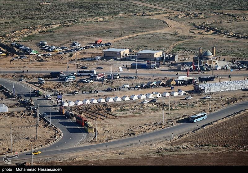 بازدید رئیس مجلس از مرز مهران و شلمچه