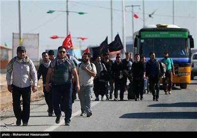 زائران اربعین حسینی در مرز مهران و شلمچه
