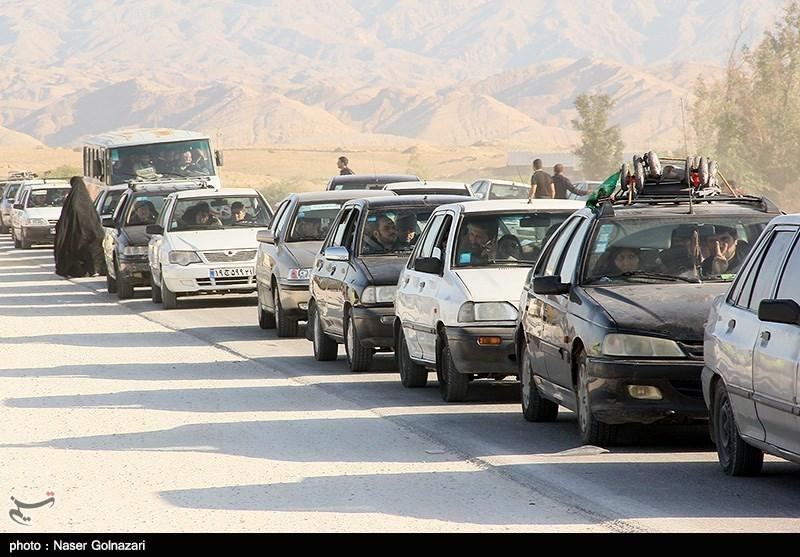 ترافیک و ازدحام در خروجی های شهر مهران - ایلام
