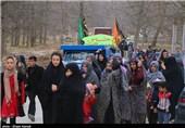 کاروان پیاده ثامن الحجج (ع) روستای مرزی دُرُح+فیلم