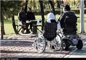 مسابقات ویلچر رانی و پیاده روی معلولان در شیراز