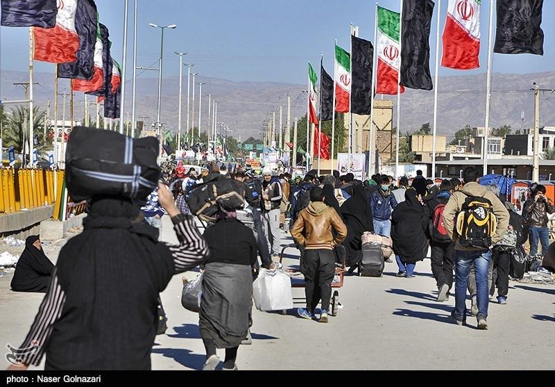 إرتفاع عدد الزوار من معبر مهران الحدودی مع العراق بنسبة 70 بالمئة