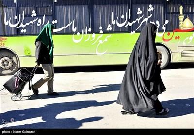 بازگشت زائران اربعین حسینی از مرز مهران - ایلام