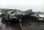 تصادف زنجیرهای در کرمانشاه 3 مصدوم و 2 کشته برجای گذاشت