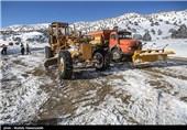 گلستان| جاده توسکستان به علت کولاک شدید مسدود شد