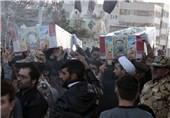 مراسم استقبال از شهیدان حسامی و آدینهلو در زنجان برگزار شد