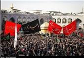 عزاداری تاسوعایی هیئات و دستههای مردمی در حرم مطهر رضوی+فیلم