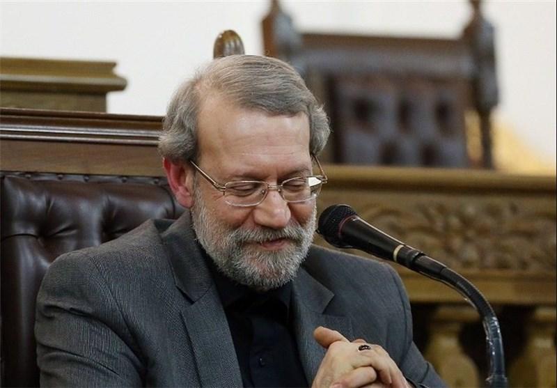 علی لاریجانی لبخند تبریک