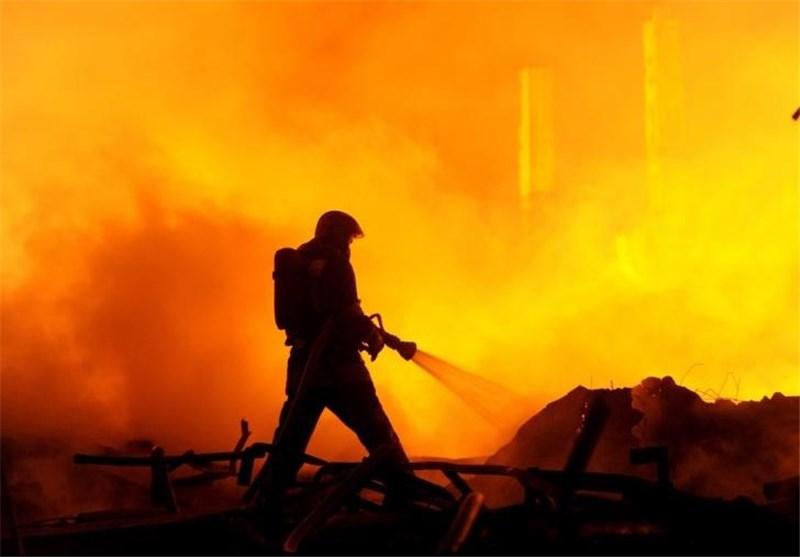 آتش سوزی بیمارستان روسیه